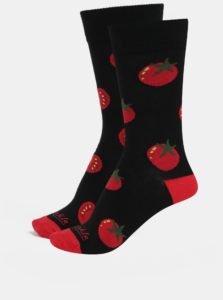 Červeno-čierne unisex ponožky Fusakle Pretlak