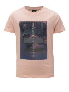 Marhuľové chlapčenské tričko s potlačou LIMITED by name it Oblik