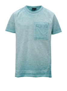 Tyrkysové chlapčenské melírované tričko LIMITED by name it Santo