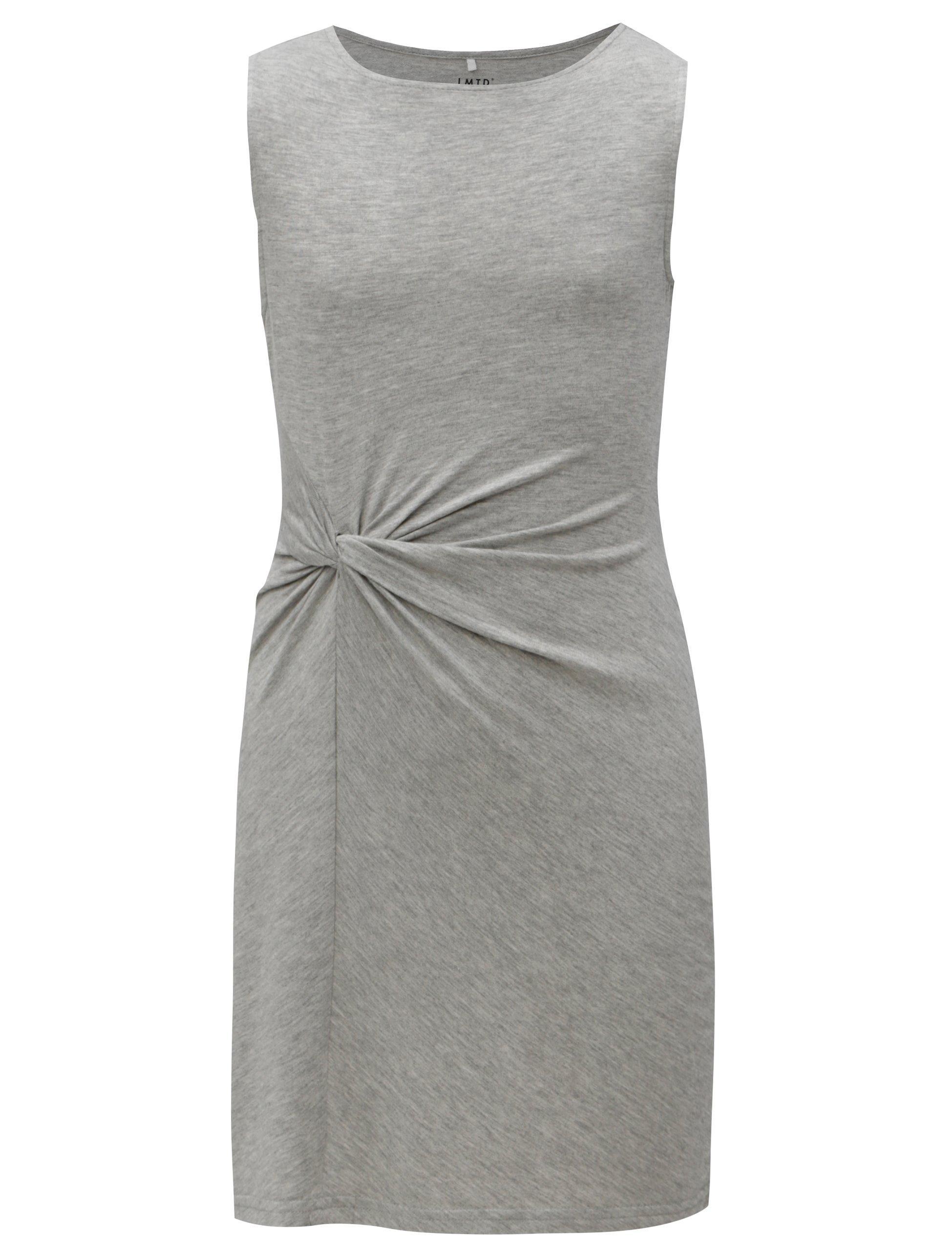 d6e6594c7f8a Sivé dievčenské šaty s uzlom LIMITED by name it Norma
