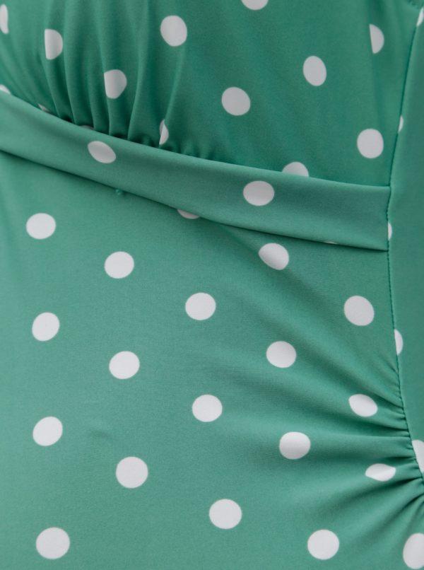 76a5896ec Zelené tehotenské bodkované plavky Mama.licious Nancy | Moda.sk