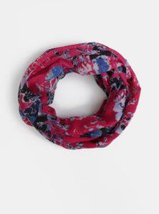 Tmavoružová kvetovaná dutá šatka Pieces Dolores