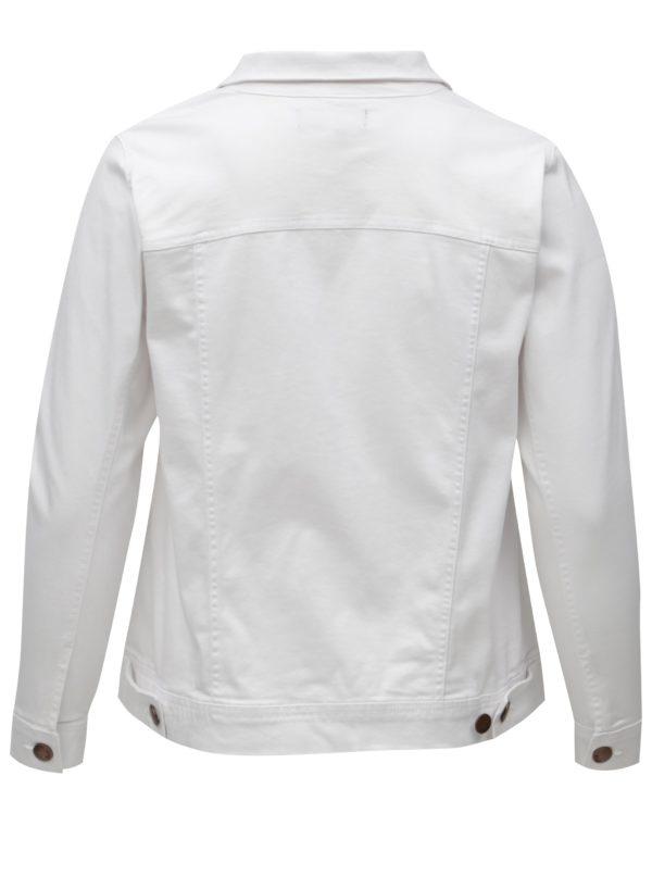 Biela dámska rifľová bunda Zizzi