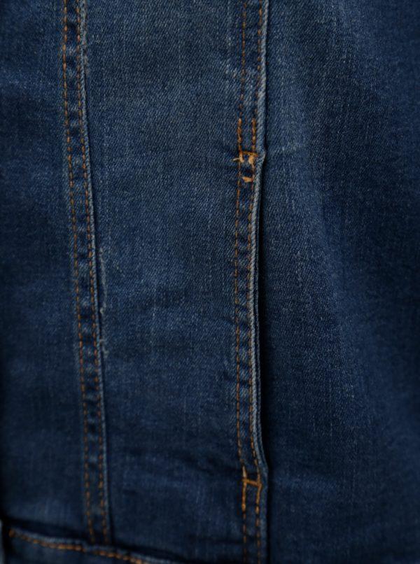 Modrá dámska rifľová bunda Zizzi