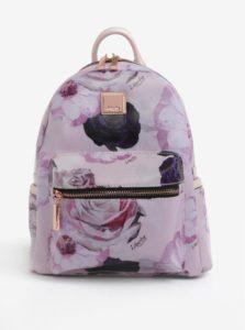 Ružový kvetovaný batoh s koženými detailmi Liberty by Gionni Fleur