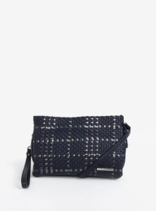 Tmavomodrá crossbody kabelka s metalickými detailmi Liberty by Gionni Patrice