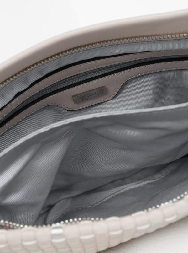 Béžová crossbody kabelka s metalickými detailmi Liberty by Gionni Patrice