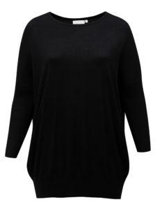 Čierny dlhý dámsky sveter Zizzi