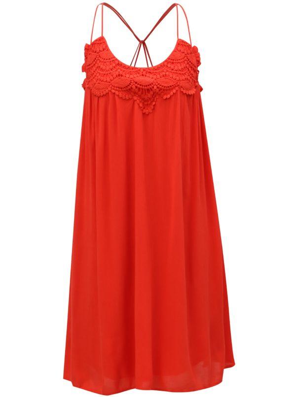 Červené šaty VERO MODA Fiona