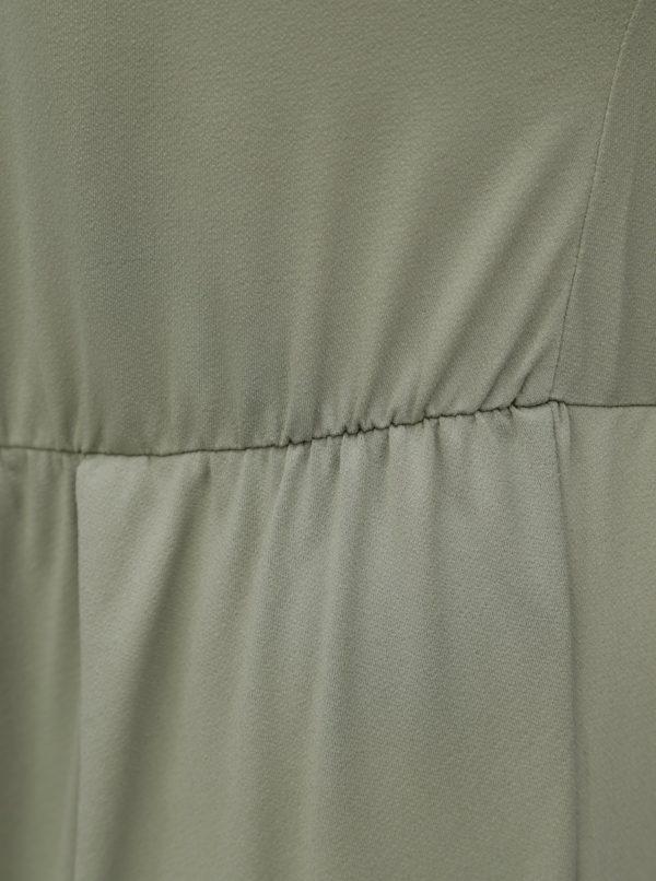 Kaki šaty s prekladanou zadnou časťou Zizzi