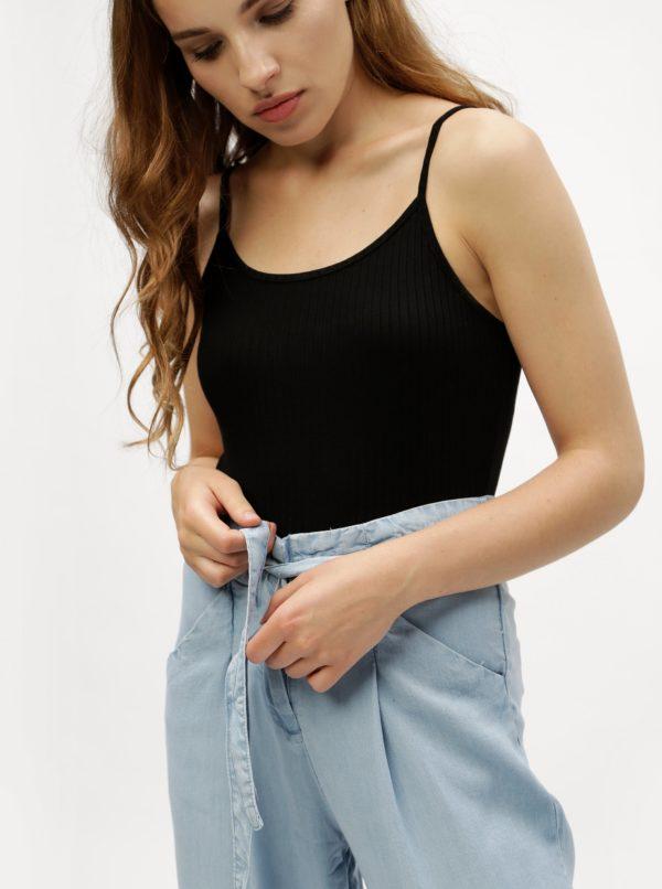 Svetlomodré voľné nohavice so zaväzovaním VERO MODA Breeze