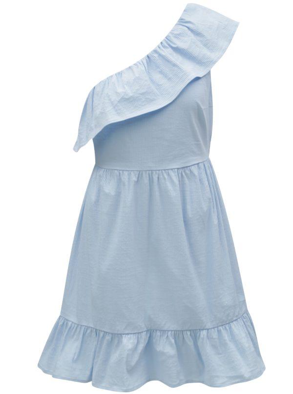 Svetlomodré asymetrické šaty VERO MODA Sia
