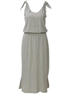 Svetlosivé melírované šaty VERO MODA Diana