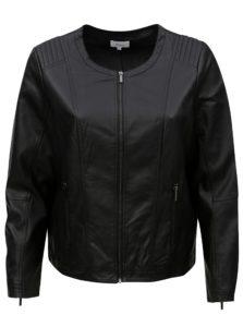 Čierna dámska koženková bunda Zizzi