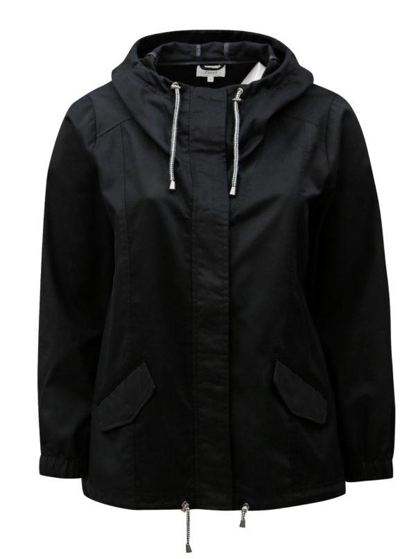 Čierna dámska bunda s kapucňou Zizzi