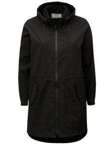 Čierny vodovzdorný softshellový kabát s kapucňou Zizzi