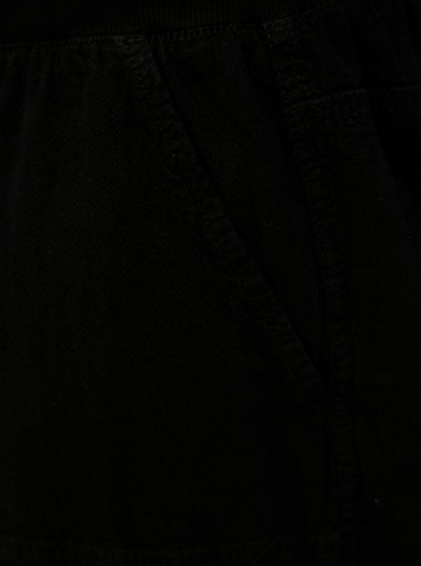 Čierne kraťasy s gumou v páse Zizzi