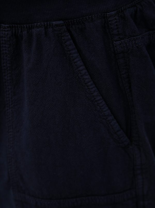 Tmavomodré kraťasy s gumou v páse Zizzi