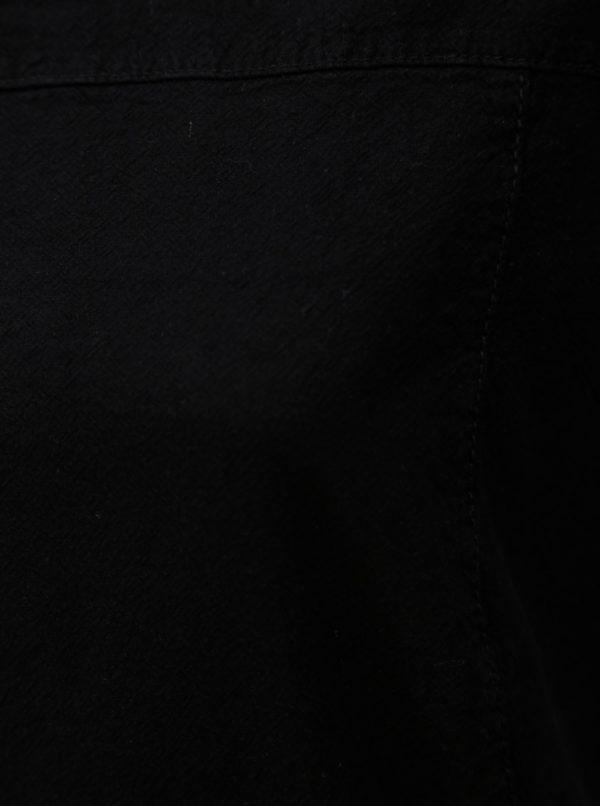 Čierna blúzka s krátkym rukávom Zizzi