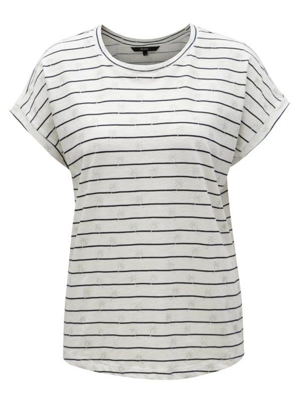 Biele pruhované tričko VERO MODA Helmer