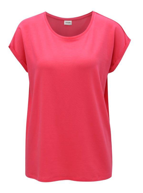 Tmavoružové oversize tričko VERO MODA Ava