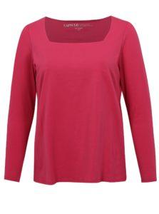 Ružové tričko s dlhým rukávom simply be.