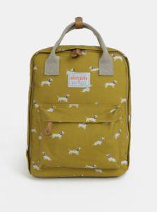 Žltý batoh s motívom psíkov Brakeburn