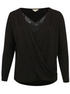 Čierne tričko s dlhým rukávom simply be.