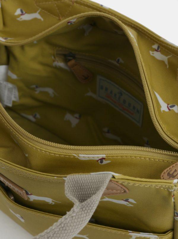 Žltá kabelka cez rameno s motívom psíkov Brakeburn  0cdd3e4d0a2