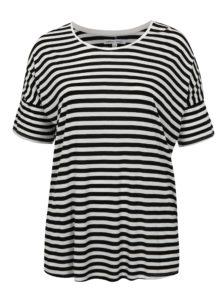 Čierno-biele pruhované tričko simply be.