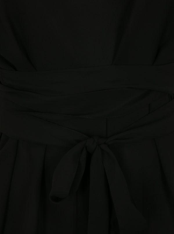 Čierna blúzka so zaväzovaním simply be.