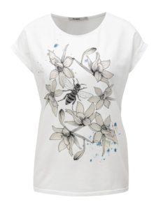 Biele tričko s priehľadným vzorom Desigual Always for you