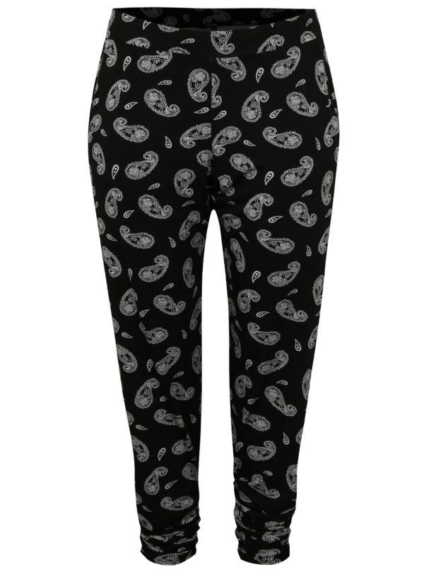 Čierne vzorované nohavice simply be.