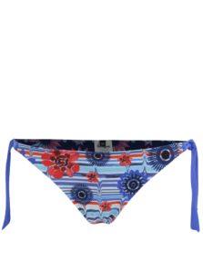 Modrý vzorovaný obojstranný spodný diel plaviek Desigual Elle
