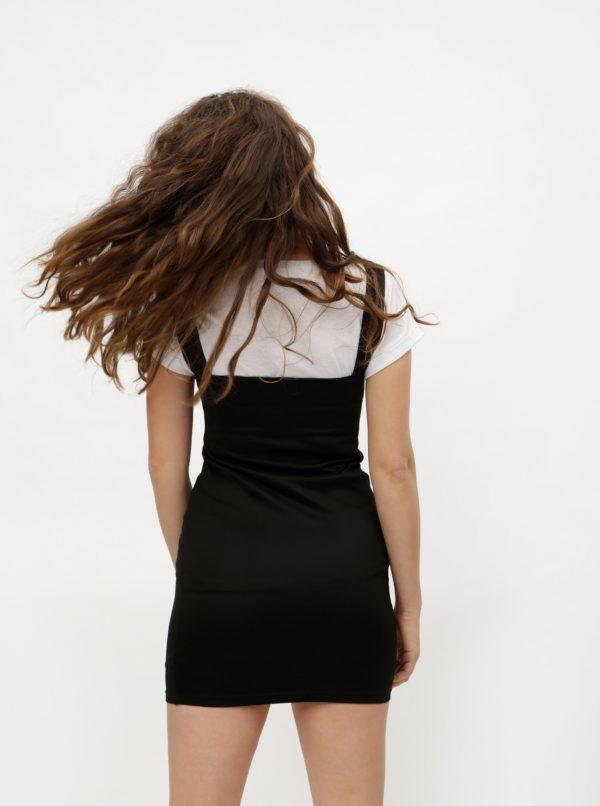 Čierne puzdrové minišaty na ramienka MISSGUIDED