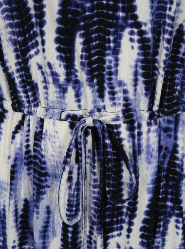 Modré vzorované maxišaty simply be.