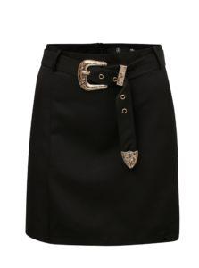 Čierna sukňa s opaskom a detailmi v zlatej farbe MISSGUIDED