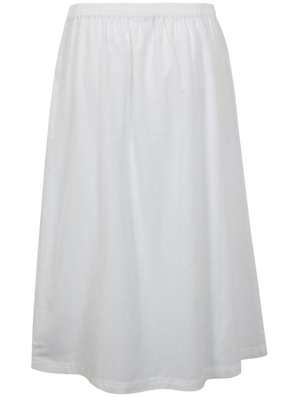 Biela sukňa s prímesou ľanu simply be.