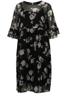 Čierne kvetované šaty simply be.