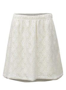 Krémová čipkovaná sukňa Jacqueline de Yong Cart