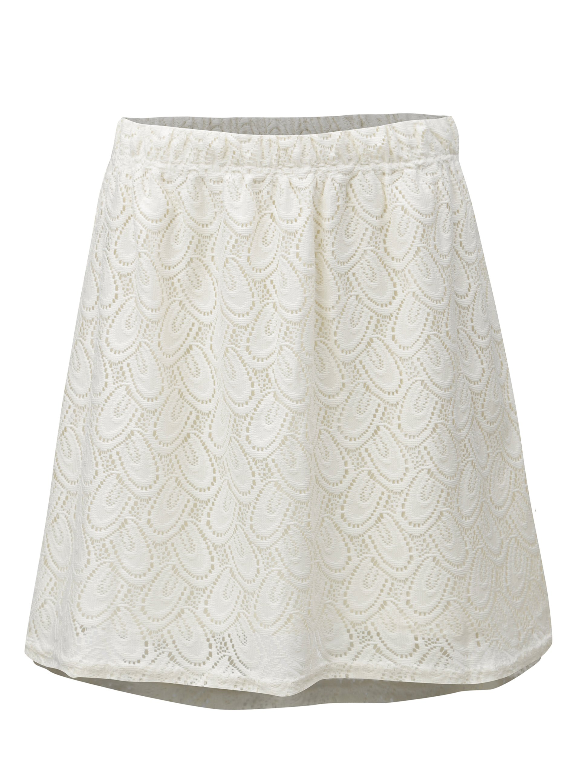 d06c3861253c Krémová čipkovaná sukňa Jacqueline de Yong Cart