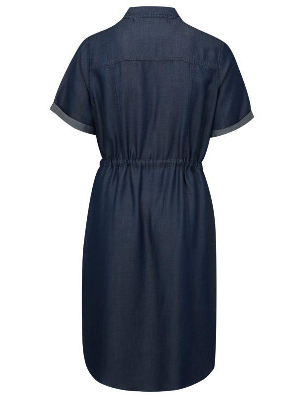 Modré košeľové šaty simply be.