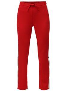 Červené nohavice s vysokým pásom MISSGUIDED
