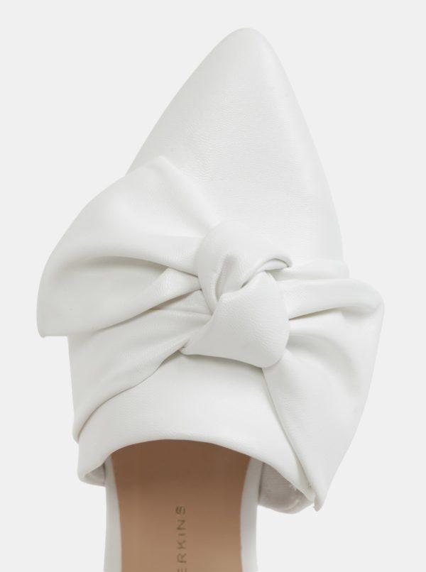 Biele šľapky s mašľou Dorothy Perkins