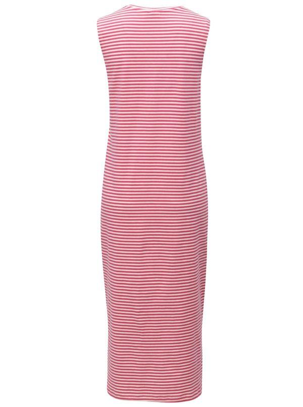 Bielo-ružové pruhované šaty Jacqueline de Yong Charm