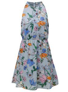 Modré kvetované šaty Jacqueline de Yong Chili