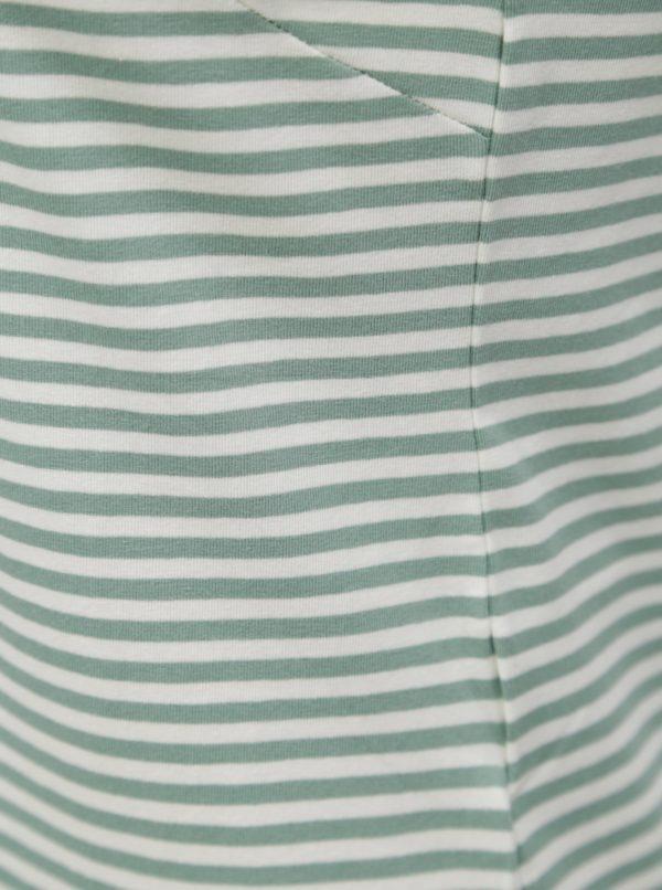 Bielo-zelené pruhované midišaty Jacqueline de Yong Charm