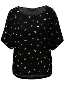Čierne vzorované tričko Jacqueline de Yong Victory