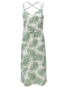 Zeleno-biele vzorované midišaty Jacqueline de Yong Carla