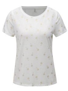 Biele tričko s potlačou ONLY New Isabella